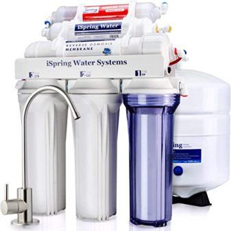 iSpring WCC31 Under Sink High Capacity Tankless Drinking Water Filtration System