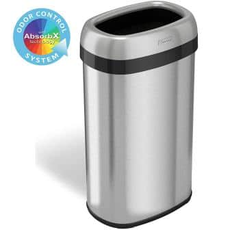 iTouchless Open Top Trash Can