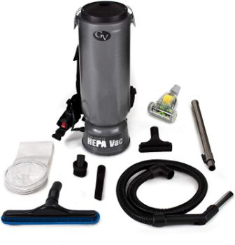 GV 10-quart commercial backpack vacuum