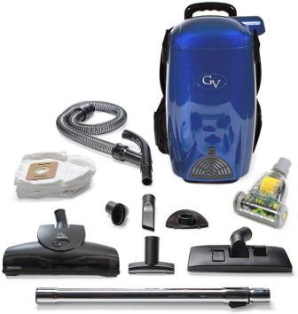 GV Blue 8 Qt HEPA Backpack Vacuum