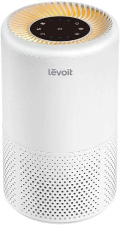 Air purifier for pollutants, dust, pollen, mold, smoke, and allergens with true HEPA filter from Levoit