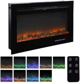 Homedex 36-inch recess mounted fireplace insert