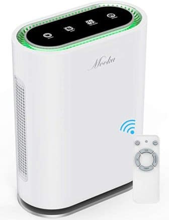 Large room air purifier with true HEPA filter from Mooka