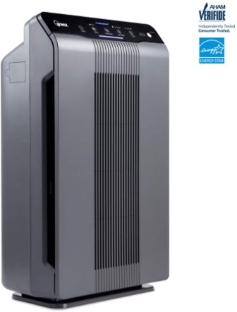 Odor reducing and PlasmaWave air purifier with true HEPA filter from Winix