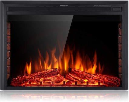 Sunlei 39-inch electric fireplace insert