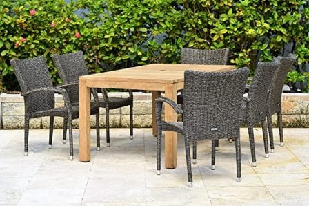 Amazonia Brussels 7-pc Wooden Patio Dining Set