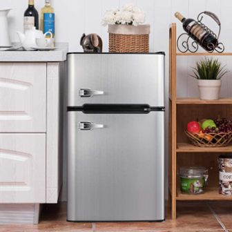 Bossin Compact Refrigerator (Gray Stainless Steel)