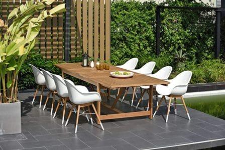 Brampton 9-pc Wooden Patio Dining Set