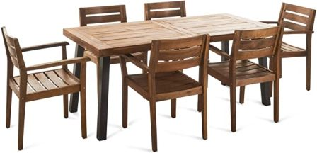 Christopher Knight Home Avon Wooden Patio Dining Set
