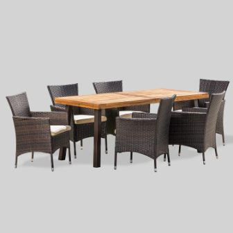 Christopher Knight Home Randy Wooden Patio Dining Set