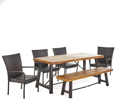 Christopher Knight Home Salla Wooden Patio Dining Set