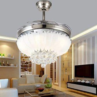 Luxury bedroom fandelier by Cretifity