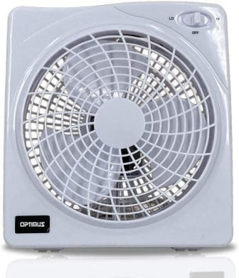 Optimus F-1022 10-Inch 2 Speed Box Fan