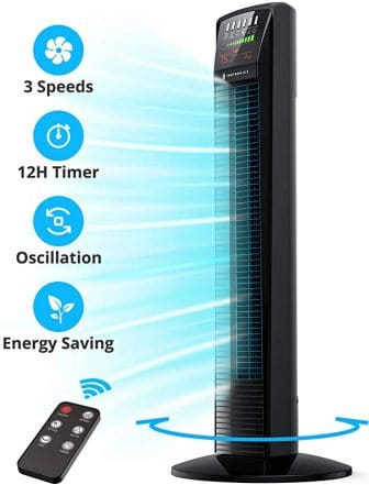TaoTronics Tower Fan with Wider Air Coverage