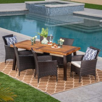 Top 15 Best Wooden Patio Dining Sets in 2020