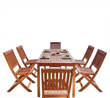 Vifah Malibu Wooden Patio Dining Set