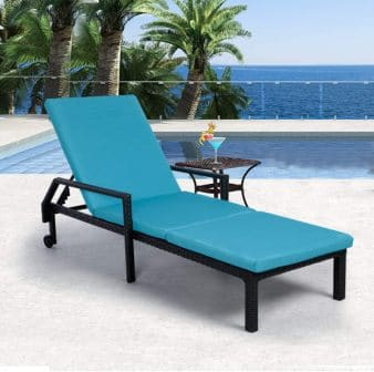 AECOJOY Adjustable Outdoor Chaise Lounge Chair