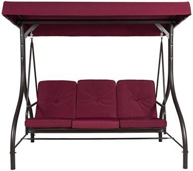 BELLEZE 3-Seat Convertible Swing Chair-Cum-Bed