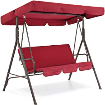 Best Choice Products 2-Seat Outdoor Patio Swing Bench