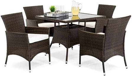 Best Choice Products 5-Piece Patio Dining Set