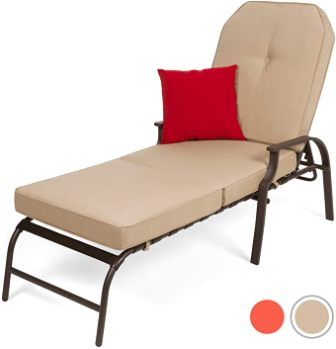 Best Choice Products Adjustable Outdoor Chaise Lounge Chair