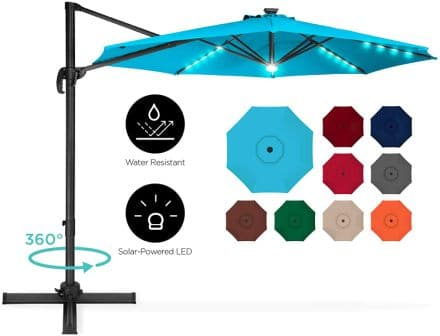 Best Choice Products LED Cantilever Offset Patio Umbrella