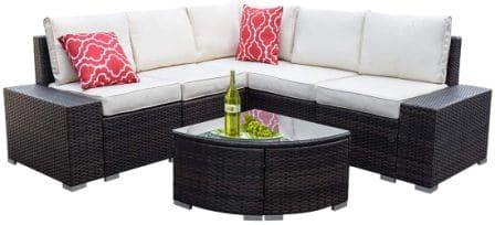 COU Outdoor Wicker Patio Furniture Sofa Set
