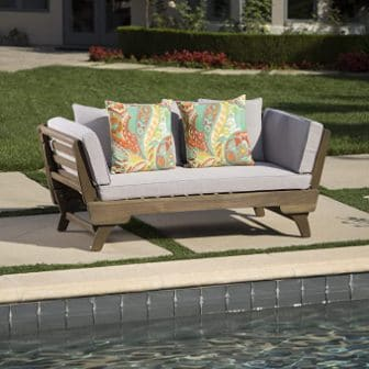 Christopher Knight Home Othello Outdoor Acacia Wood Daybed