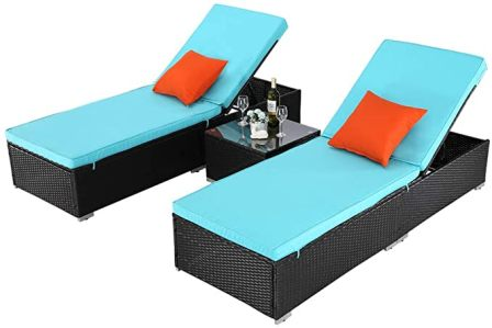 Do4U Outdoor Patio Chaise Lounges Chairs