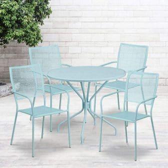 Flash Furniture 35.25RD Patio Table Set