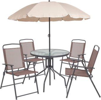 Flash Furniture Nantucket 6 Piece Patio Dining Set