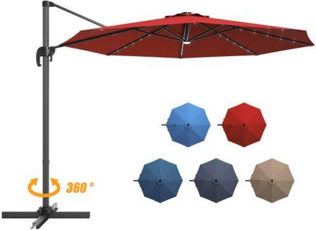 Giantex Cantilever Patio Umbrella