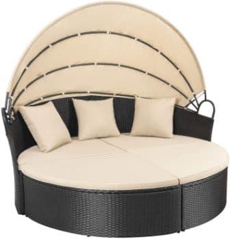 Homall Patio Daybed with Retractable Canopy