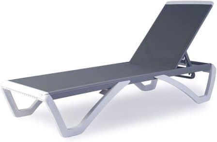 Kozyard Alan Full Flat Patio Reclining Adjustable Chaise