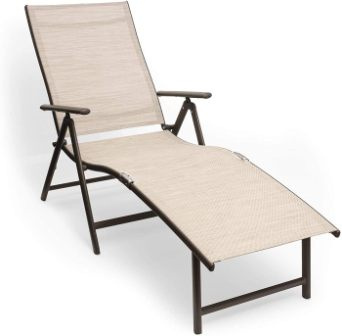 Kozyard Cozy Aluminum Folding Reclining Chaise
