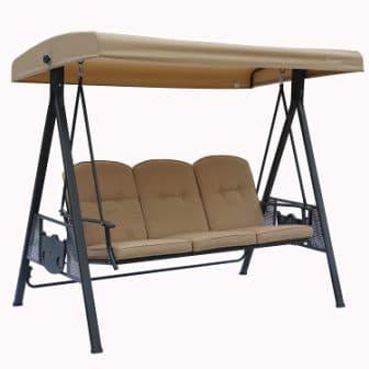 Kozyard Herbert Three Seat Deluxe Canopy Porch Swing