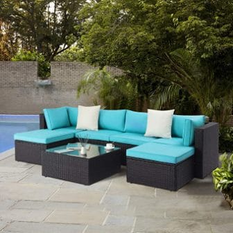 LEMBERI 7 Pieces Outdoor Furniture Patio Conversation Sets