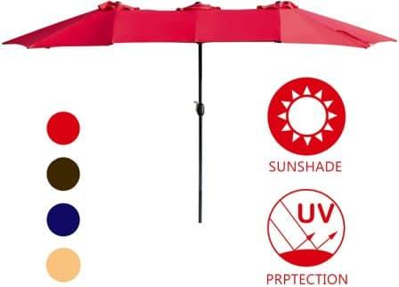 LOKATSE Double-Sided Patio Umbrella