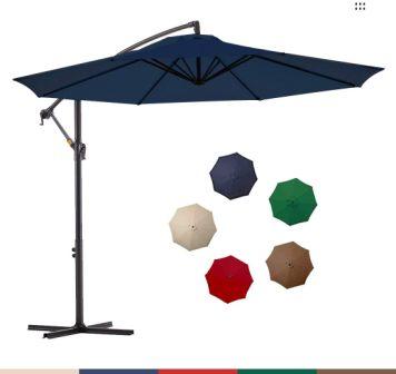 Le Conte Cantilever Patio Hanging Umbrella