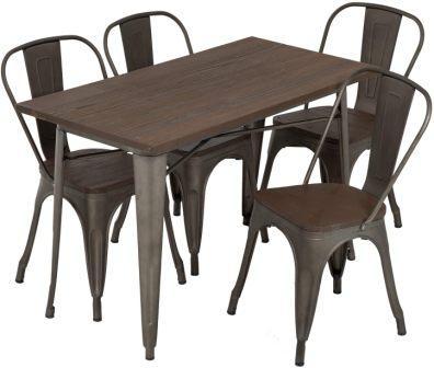 Lokaste Home 5-Piece Outdoor Metal Dining Set