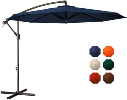 MEWAY Backyard Cantilever Patio Umbrella