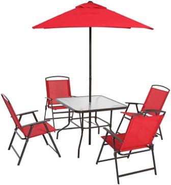 Mainstays Albany Lane 6-Piece Folding Dining Set