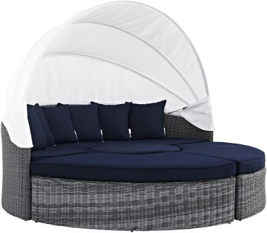 Modway Summon Outdoor Patio Daybed with Canopy