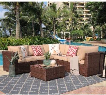 Patiorama 6 Piece Outdoor Patio Furniture Set