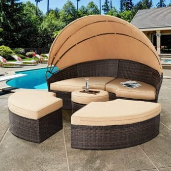 Solaura Patio Daybed with Retractable Canopy