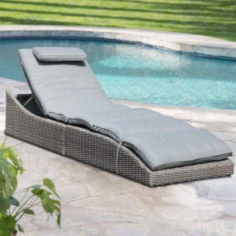 Soleil Jardin Folding Outdoor Adjustable Chaise
