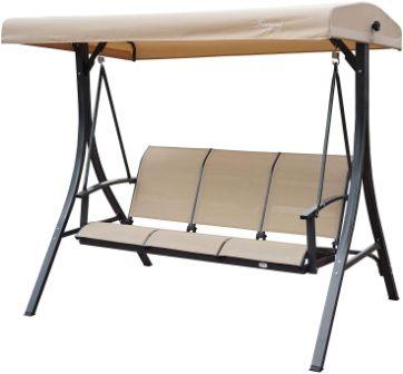 Tangkula 3-Seat Outdoor Relaxing Swing