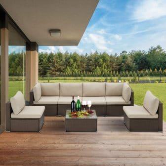 U-MAX Furniture 6-piece Patio Dining Set