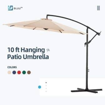 WUFF Bluu Offset Cantilever Patio Umbrella