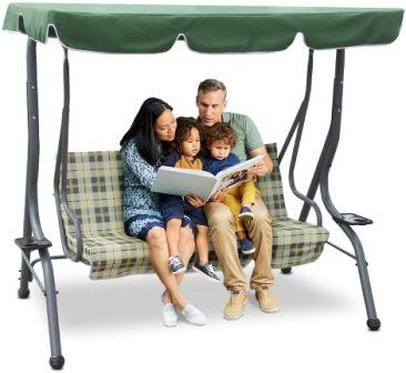 Zupapa 3-Seat Deluxe Outdoor Swing